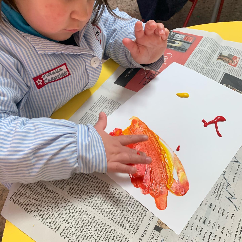 proyecto de las profesiones en 1º Infantil dibujo